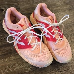 Adidas pink sneakers size 8